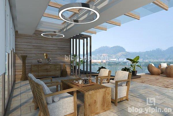 二层半带天台别墅设计