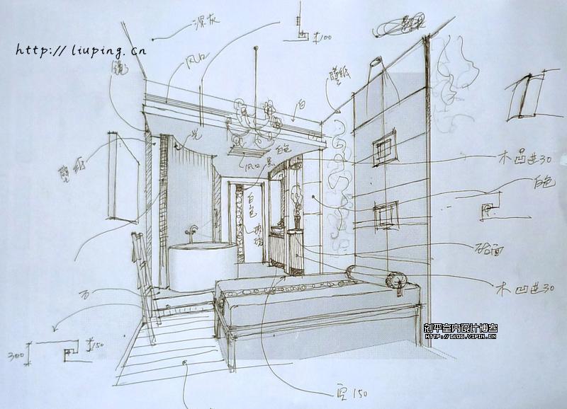室内设计手绘效果图vip包房